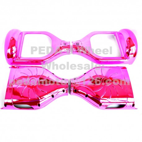 """(23)Chrome Pink DIY Self Balancing Scooter parts hoverboard outer shell Plastic Cover Frame accessory for 6.5"""" hoverboard"""