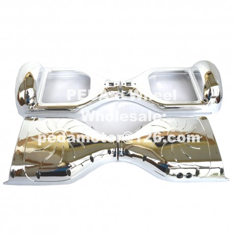 """(22) Chrome outer shell hoverboard Sliver DIY Self Balance Plastic Eletric Scooter Parts Frame accessory for 6.5"""" replacement"""