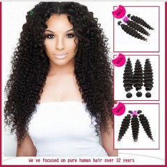 No synthetic Tangle and shed free 100 % natural brazilian deep wave human hair cheap brazilian human hair