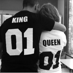 T-shirt Couple KING AND QUEEN