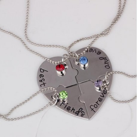Collier Best Friends Forever 4 en 1
