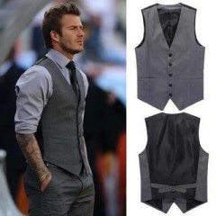 (Gilet +Pantalon Slim) David Beckham