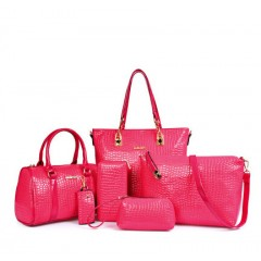 Mode dames 6PCS sac à main crocodile boston