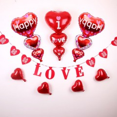 Ballon de decoration saint valentin