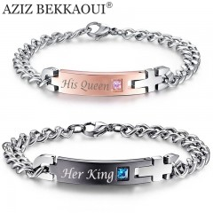 Bracelet Couple KIND and QUEEN