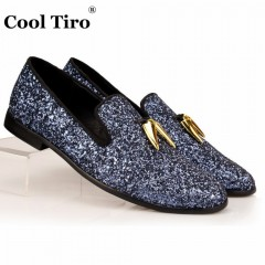 Mocassin Blue Navy Paillette