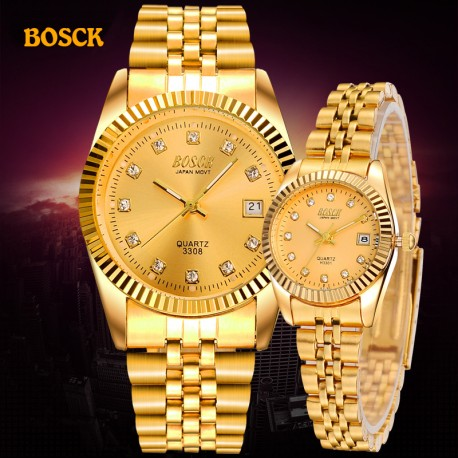 BOSCK Montre couple de luxe