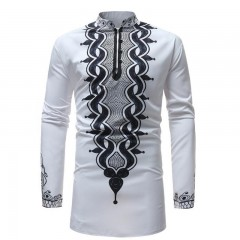 Chemise T'challa brodée manches longues
