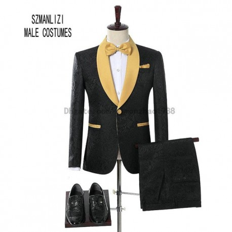 Châle Revers costume homme
