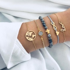 Ensemble bracelet TORTUE-AMOUR