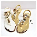 sandales strass tongs