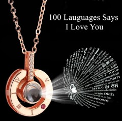 Collier De Projection dire je t'aime en 100 langues