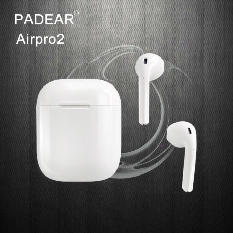 Écouteurs Padear Airpro2 sans fil Bluetooth pour Iphone 6/7/8 plus Apple Android