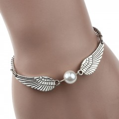 BRACELET ANGEL WINGS GRIS ARGENT