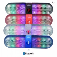 Portable Wireless Bluetooth Speaker LED Bluetooth Loudspeaker Support U-disk and TF card FM Stereo Speakers For iphone Samsung