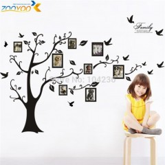 Arbre stickers muraux ZooYoo pvc photo frame tree stickers Original