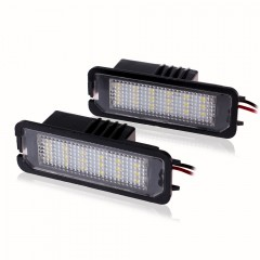 2 Pcs LED FEU License Plate lumières SMD3528 New Beetle