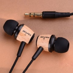 Original Aiwei Q5 High Quality Super Bass Stereo Wooden Earphone